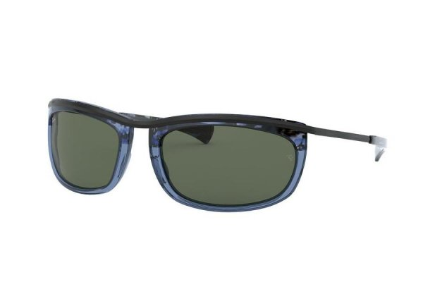 Очки Ray-Ban Olympian I RB2319-1288-31 Black / Transparent Blue | Natural Green