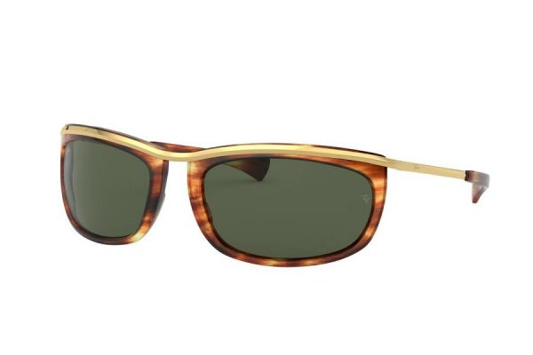 Очки Ray-Ban Olympian I RB2319-954-31 Arista / Brown | Natural Green