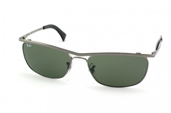 Очки Ray-Ban Olympian II Deluxe RB3385-004 Gunmetal/Natural Green (G-15XLT)