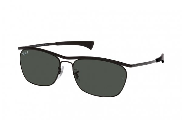 Очки Ray-Ban Olympian II Deluxe RB3619-002-58 Black | Natural Green Polarized