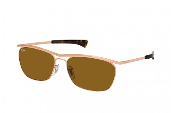 Очки Ray-Ban Olympian II Deluxe RB3619-9202-33 Bronze | Natural Brown