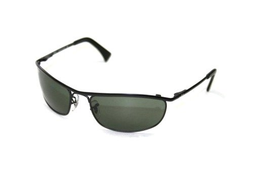 Очки Ray-Ban Olympian RB3119-006-48 Matte BLack | Natural Green Polarized