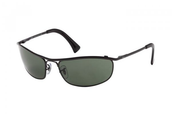 Очки Ray-Ban Olympian RB3119-006 Matte BLack | Natural Green (G-15 XLT)