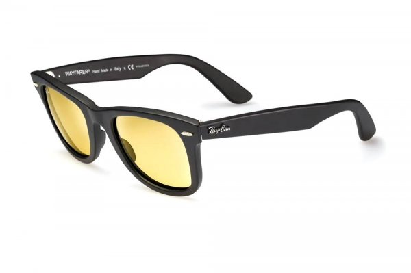 Очки Ray-Ban Original Wayfarer Ambermatic RB2140-901S-4A Matt Black | Ambermatic
