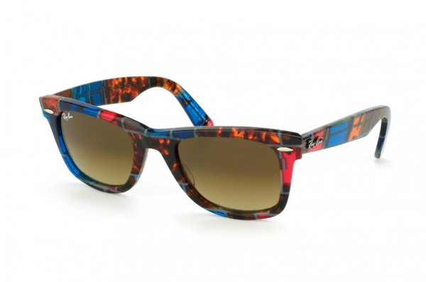 Очки Ray-Ban Original Wayfarer Blocks Dancers RB2140-1108-85 Blocks Three-Dimensional Dance Avana-Blue | Brown