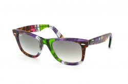 Очки Ray-Ban Original Wayfarer Blocks Dancers RB2140-1109-32 Blocks Three-Dimensional Dance Avana-Green | Gradient Grey