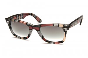 Очки Ray-Ban Original Wayfarer Blocks RB2140-1083-32 Blocks Three-Dimensional Red-Beige/Gradient Grey