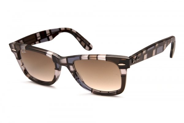 Очки Ray-Ban Original Wayfarer Blocks RB2140-1086-51 Blocks Three-Dimensional Blue-Brown/Faded Brown
