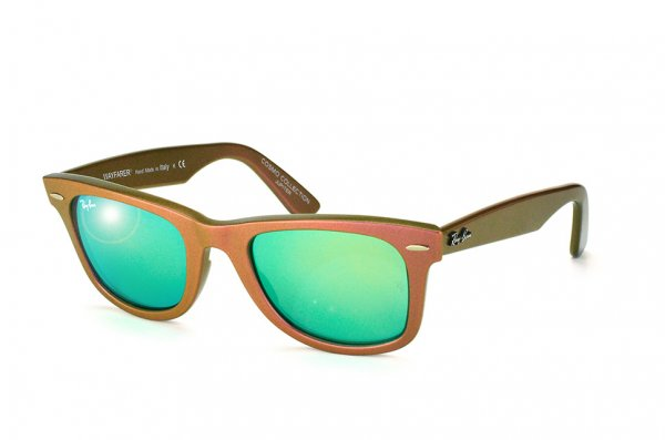 Очки Ray-Ban Original Wayfarer Cosmo RB2140-6110-19 Matt Green/Pink | Green Mirror