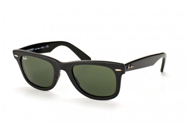 Очки Ray-Ban Original Wayfarer Distressed RB2140-1184 Black Well-Worn /Natural Green (G-15XLT)