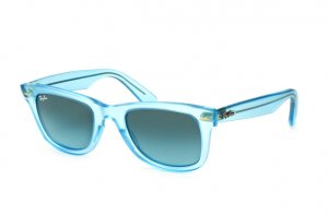 Очки Ray-Ban Original Wayfarer Ice Pops RB2140-6055-4M Transparent Matt Blue |  Blue Gradient