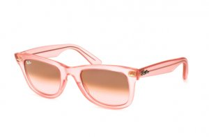 Очки Ray-Ban Original Wayfarer Ice Pops RB2140-6057-X3 Tansparent Matt Pink | Brown Gradient Pink