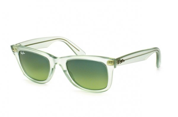 Очки Ray-Ban Original Wayfarer Ice Pops RB2140-6058-3M Transparent Matt Green | Green Gradient
