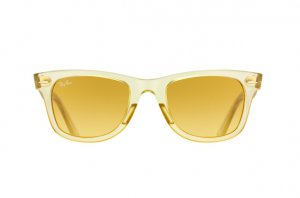 Очки Ray-Ban Original Wayfarer Ice Pops RB2140-6059-X4 Transparent Matt Beige | Yellow Gradient