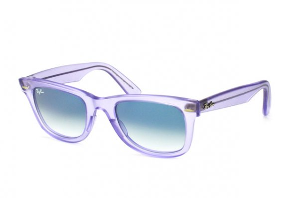 Очки Ray-Ban Original Wayfarer Ice Pops RB2140-6060-3F Transparent Matt Lilac | Blue Gradient