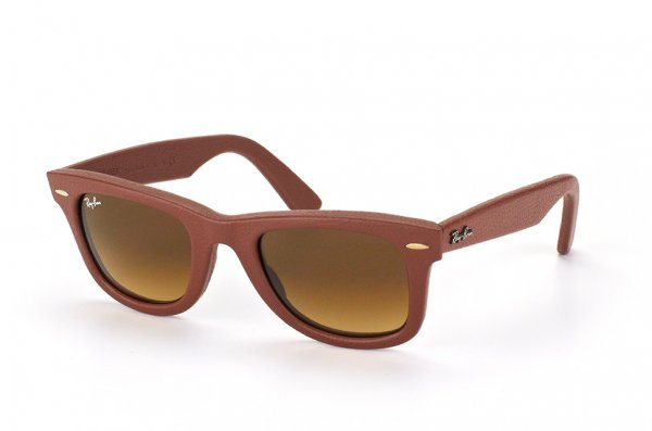 Очки Ray-Ban Original Wayfarer Leather RB2140QM-1169-85 Ochre Brown | Brown Faded Yellow