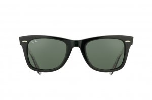 Очки Ray-Ban Original Wayfarer London RB2140-1114 White/Texture London/Black | Natural Green (G-15XLT)