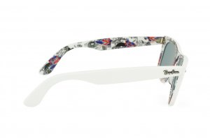 Очки Ray-Ban Original Wayfarer London RB2140-1116-3Q White/Texture London | Azure Silver Mirror