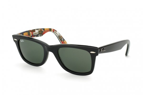 Очки Ray-Ban Original Wayfarer Music RB2140-1120 Texture Music/Black | Natural Green (G-15XLT)