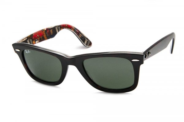 Очки Ray-Ban Original Wayfarer Music RB2140-1122 Black/Music | Natural Green (G-15XLT)
