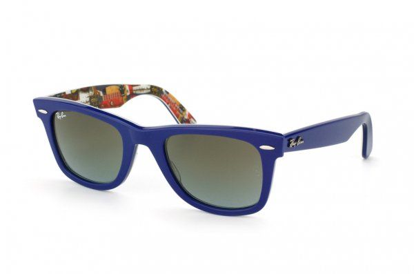 Очки Ray-Ban Original Wayfarer Music RB2140-1123-96 Blue/Texture London | Brown Faded Blue