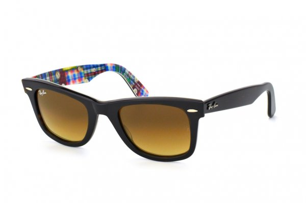 Очки Ray-Ban Original Wayfarer Patchwork RB2140-1132-85 Black On Patch Work | Brown Faded Yellow