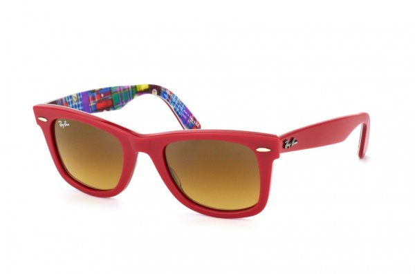 Очки Ray-Ban Original Wayfarer Patchwork RB2140-1133-85 Red On Patch Work | Brown Faded Yellow
