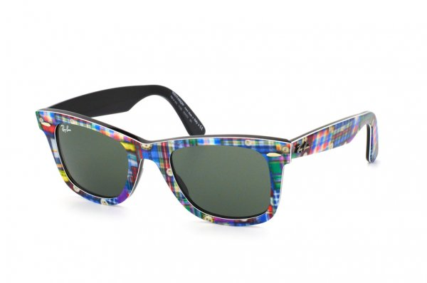 Очки Ray-Ban Original Wayfarer Patchwork RB2140-1135 Patchwork On Black | Natural Green (G-15XLT)