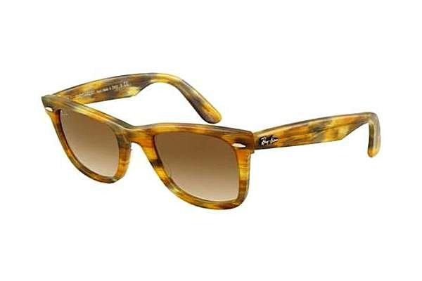 Очки Ray-Ban Original Wayfarer RB2140-1040-51 Striped Yellow-Dark Green | Faded Brown