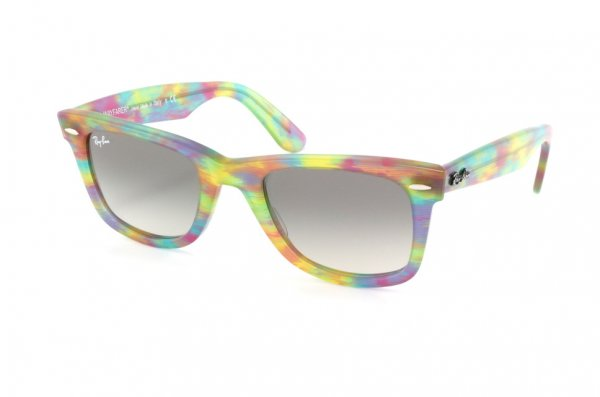 Очки Ray-Ban Original Wayfarer RB2140-1041-32 Striped Pink-Yellow-Green/Gradient Grey