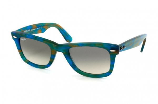 Очки Ray-Ban Original Wayfarer RB2140-1042-32 Striped Azure-Yellow | Gradient Grey