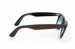 Очки Ray-Ban Original Wayfarer RB2140-1057-3F Brown/Striped Azure Yellow | Gradient Light Blue