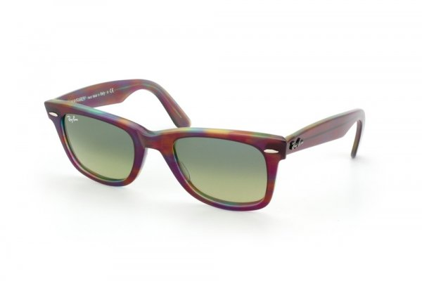 Очки Ray-Ban Original Wayfarer RB2140-1058-28 Striped Violet-Red-Green | Blue Faded Yellow
