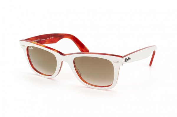 Очки Ray-Ban Original Wayfarer RB2140-1059-51 White Striped Orange/Faded Brown