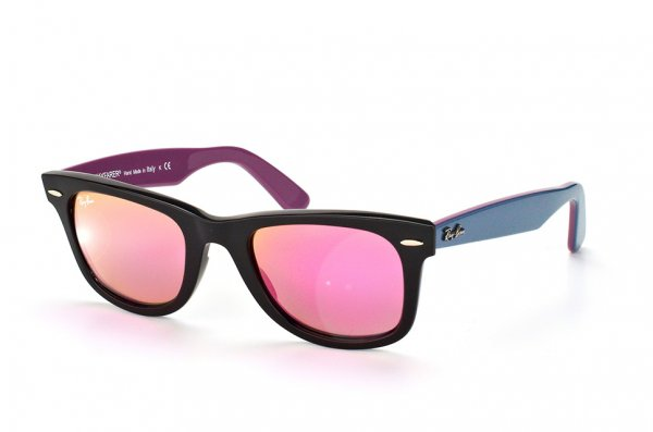 Очки Ray-Ban Original Wayfarer RB2140-1174-4T Black/Blue/Violet| Rubin Mirrored