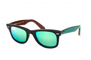 Очки Ray-Ban Original Wayfarer RB2140-1175-19 Black/Blue/Brown| Green Mirrored