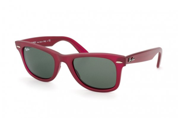 Очки Ray-Ban Original Wayfarer RB2140-888 Matte Red | Natural Green (G-15 XLT)