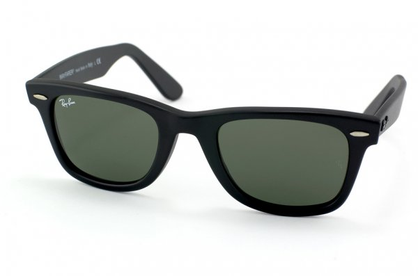 Очки Ray-Ban Original Wayfarer RB2140-901S Matte Black/Natural Green (G-15XLT)