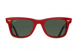 Очки Ray-Ban Original Wayfarer RB2140-955-58 Red on Black/Natural Green Polarized