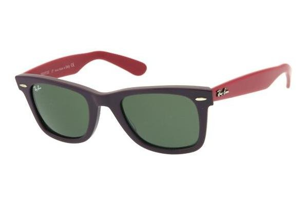Очки Ray-Ban Original Wayfarer RB2140-966 Matt Violet/Red | Natural Green (G-15 XLT)