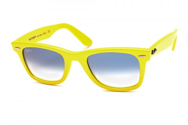 Очки Ray-Ban Original Wayfarer RB2140-996-3F Fluorescent Yellow | Gradient Light Blue