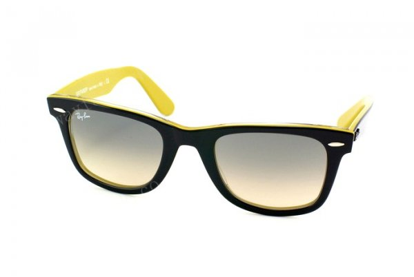 Очки Ray-Ban Original Wayfarer RB2140-999-32 Black/Yellow Line-Transparent | Gradient Grey