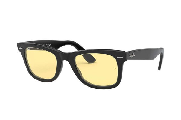 Очки Ray-Ban Original Wayfarer RB2140F-901-R6 Black | Light Yellow