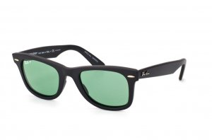 Очки Ray-Ban Original Wayfarer Special Series RB2140-901S-O5 Matt Black | Crystal Green Polarized