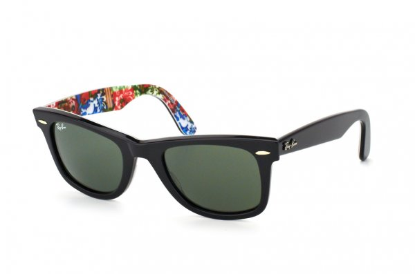 Очки Ray-Ban Original Wayfarer Surf Up RB2140-1136 Black On Texture Surf | Natural Green (G-15XLT)