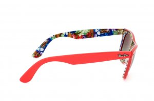 Очки Ray-Ban Original Wayfarer Surf Up RB2140-1139-71 Coral Red On Texture Surf | Grey/Green