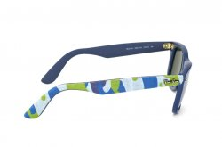 Очки Ray-Ban Original Wayfarer Urban Camouflage RB2140-6061-40 Blue Rubber/Green/Blue Camouflage | G-31
