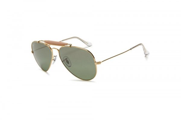 Очки Ray-Ban Outdoorsman II Rainbow RB3407-001-M4 Arista | Polarized Green GSM