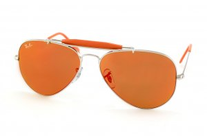 Очки Ray-Ban Outdoorsman II Rainbow RB3407-003-69 Silver/Orange Mirror
