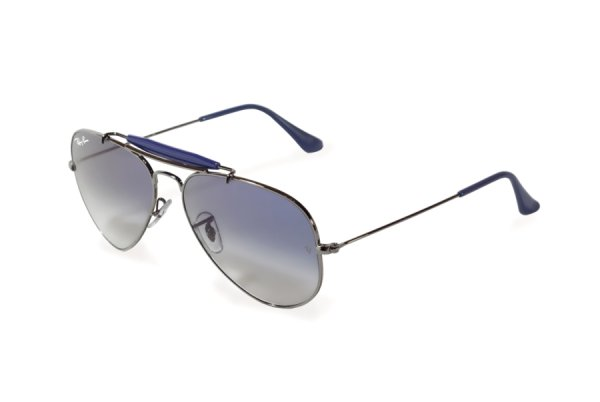 Очки Ray-Ban Outdoorsman II Rainbow RB3407-004-3F Gunmetal | Light Blue Gradient
